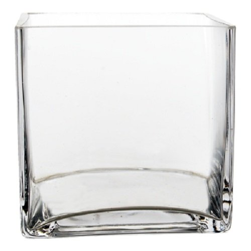 Buy clear square vases 12
