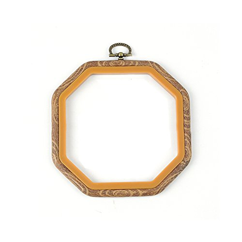 Embroidery Hoop,Woopower Cross Stitch Hoop Ring Embroidery Circle Sewing Kit Frame Craft Photo Frame,Round,Oval,Rectangle,Octagon (Octagon: - Round Frames Plastic