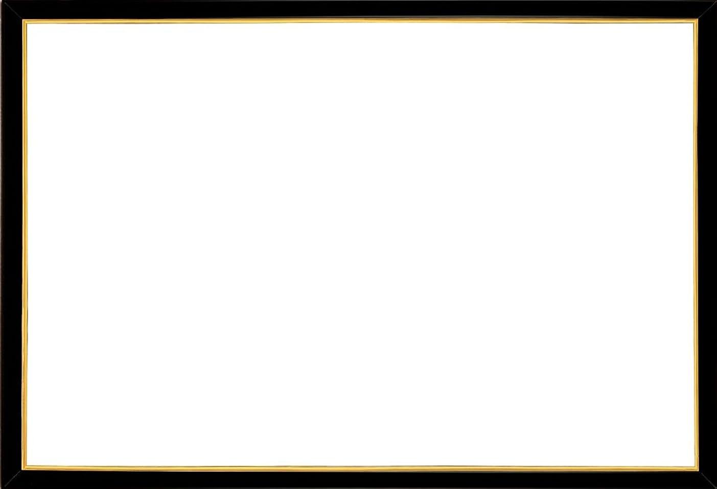 傾斜ライムエンディングアルミ製パズルフレーム パネルマックス ブラック (26x38cm)