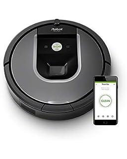 iRobot Roomba 960 - Robot Aspirador Óptimo Mascotas, Succión 5 Veces Superior, Cepillos de…