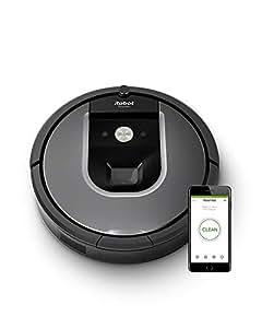 iRobot Roomba 960 - Robot Aspirador Óptimo Mascotas, Succión 5 Veces Superior, Cepillos de Goma Antienredos, Toda la Casa, Sensores Dirt Detect, Suelos y Alfombras, con Wifi y Programable por App