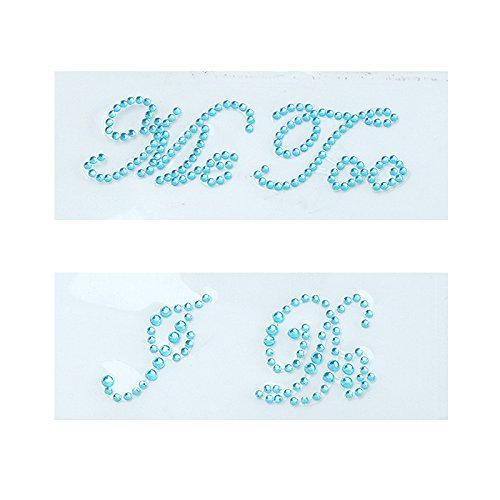 - andy cool Blue I Do & Me Too Set Acrylic Rhinestone Beads Bridal Groom fun Shoes Sticker Decals Wedding Party Useful and Practical