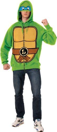 Rubie's Costume Men's Teenage Mutant Ninja Turtles Adult Leonardo Hoodie, Green, Standard