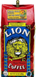 Lion Kona Gold Premium 10% Kona Coffee Blend 24 Oz. Auto Drip Grind