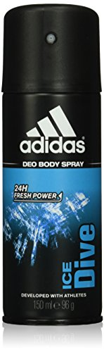 Price comparison product image Adidas Ice Dive 24 Hours Fresh Boost Cool Tech Deodorant Body Spray for Men, 4 Ounce