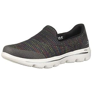 Skechers Women's GO Walk Evolution Ultra-GLADDEN Sneaker, Black/Multi, 6 M US