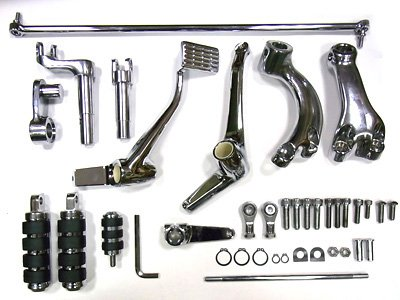 V-Twin 22-0799 - Chrome Extended Forward Control Kit -