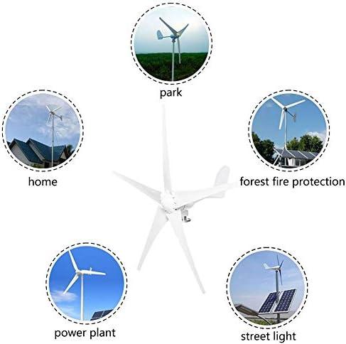 GJZhuan 2020 400W / 800W 12V / 24V Wind-Energie-Turbinen-Generator 5 Windklingen Option Mit Wasserdichten Ladereglern Fit for Haus Oder Camping 2020 (Specification : 400W 12V)