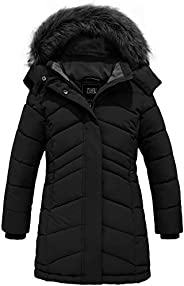 ZSHOW Girls' Winter Coat Water Resistant Long Parka Warm Hooded Puffer Ja