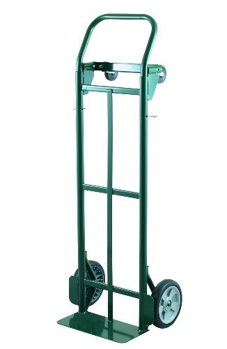 Harper Trucks 400 lb Capacity Super-Steel Convertible Hand Truck Dual Purpose 2 Wheel Dolly and 4 Wheel Cart with 8 Flat-Free Solid Rubber Wheels by Harper Trucks