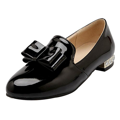 Black Shoes Pumps On CarziCuzin Slip Flat Women Casual wHnq1Pa