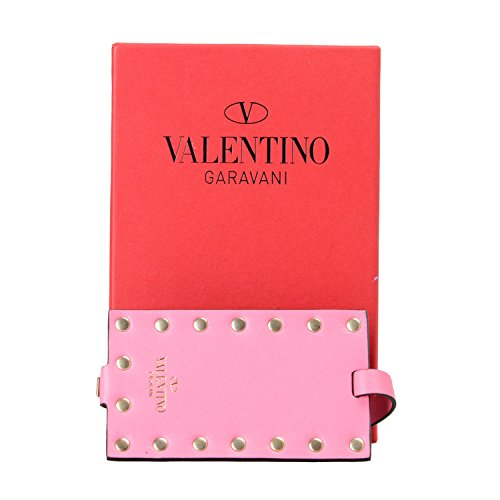 Valentino Garavani Unisex Pink Rockstud Leather Fashion Luggage Tag by Valentino Garavani (Image #3)