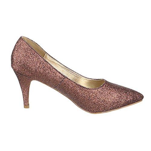 Ital-Design - Zapatillas de casa Mujer Marrón - bronce