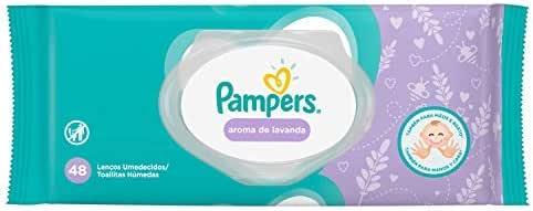 Lenços Umedecidos Pampers Aroma de Lavanda 48 Unidades, Pampers