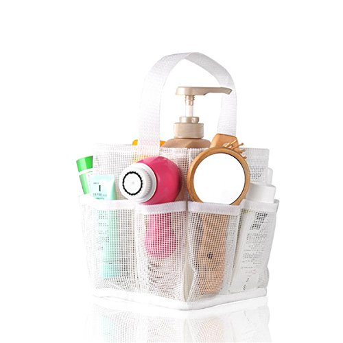 Jovilife 8 Pocket Mesh Shower Caddy Tote (White), Painting, BBQ Tool Tote ()