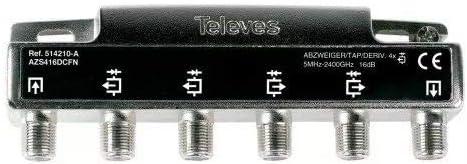 Televes 514210 - Derivador 5 2400mhz f 4d 16db a+corriente ...