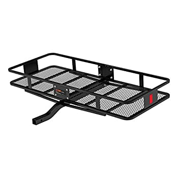 Image of Cargo Baskets CURT 18152 500 lbs. Capacity Basket Trailer Hitch Cargo Carrier, Fits 2-Inch Receiver