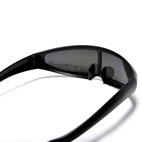 168ad03592a5a Futuristic Narrow Cyclops Color Mirrored Lens Visor Costume Sunglasses. by sunglass  spot