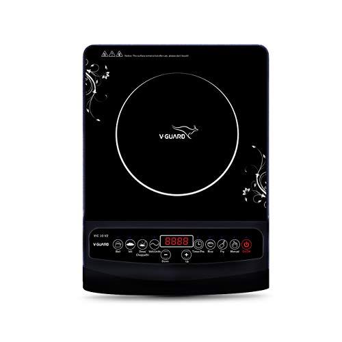 V-Guard VIC10 230 V 50 Hz Induction Cooktop, Black
