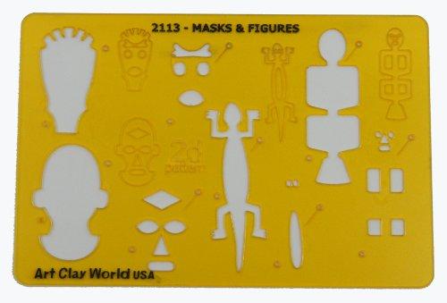 [Artistic Design Template - Masks & Figures] (Mardi Gras Masks Template)