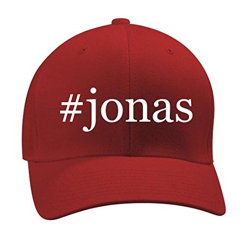 #jonas - A Nice Hashtag Men's Adult Baseball Hat Cap, Red, Small/Medium