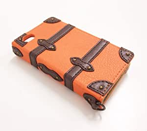 Trolley Case Book Style iPhone 4S/4 Case (Orange) (japan import)