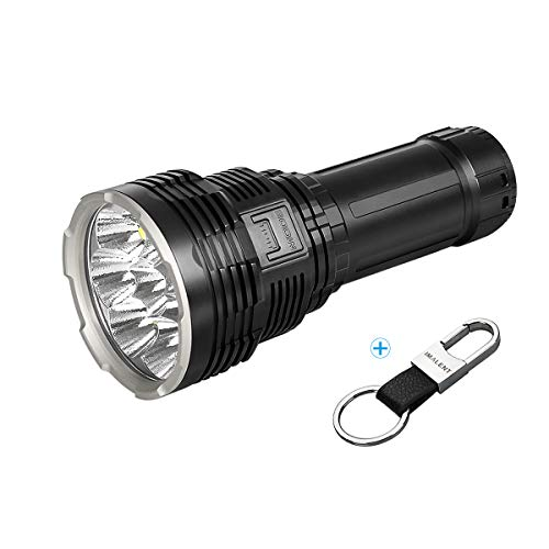 IMALENT DX80 Powerful Flashlight 32000 Lumens,8pcs CREE XHP70.2 LEDs Super Bright Flashlight, Rechargeable Flood Torch Professional Water Resistant Searchlight for Searching and Rescue Security
