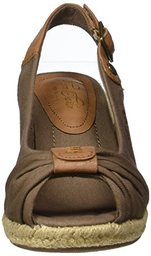 Tom Tailor 2790901, Sandalias con Correa de Tobillo para Mujer Braun (Mud)