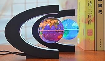 Yosoo C, levitación magnética LED, globo con mapa, forma de esfera ...