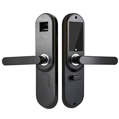 Smart Door Lock, Anti-Theft Intelligent Electronic Biometric Fingerprint Password Key Security Indoor Deadbolts for Home Office Black