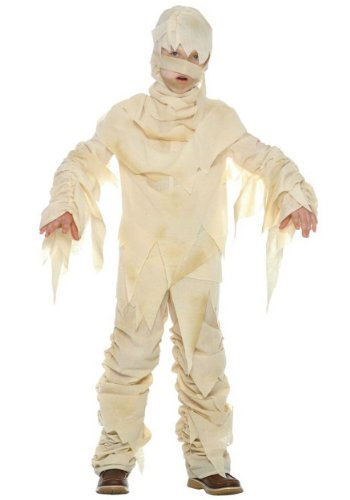LF Products Pte. Ltd. Big Boys' Child Mummy Costume (Ivory, Medium (8-10)) -