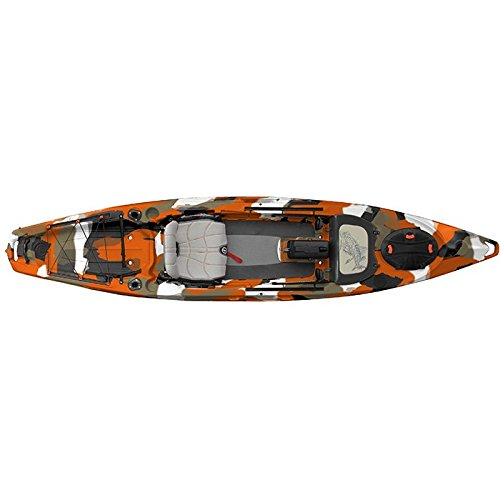 Feel Free Lure 13.5 Kayak with Sonar Pod Orange Camo