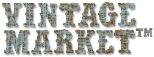rative Strip Die By Tim Holtz-Vintage Market Alphabet 12.625