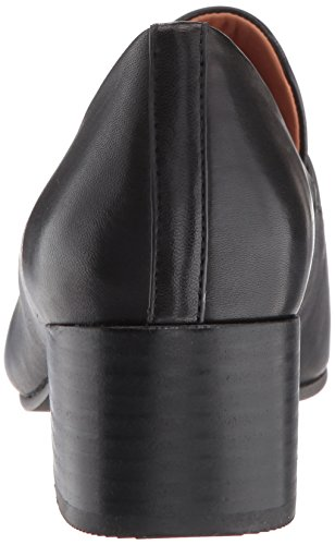 Gentle Souls Mujeres Eliott Hombreswear Inspired Vestido Block Heel Loafer Negro