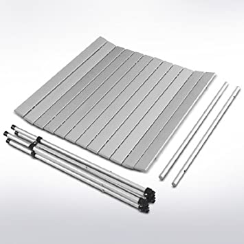 Alzata avvolgibile tavolino Tavolo per fiere tavolo per giardino tavolo in alluminio piano avvolgibile Tavolo da campeggio VARIE MISURE Regolabile in altezza- pieghevole arrotolabile tavolo per picnic