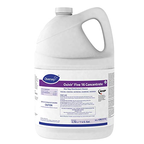 Diversey Oxivir Five 16 Concentrate One-Step Premium Disinfectant Cleaner, 1 Gallon Bottle, 4 Bottle Value Pack by Diversey (Image #1)