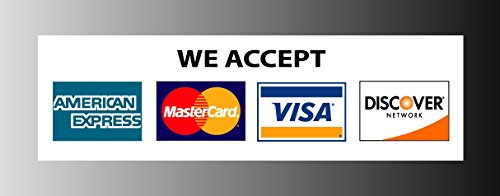 Image result for VISA MC DISCOVER AMEX SIGNS