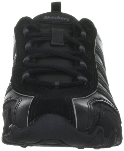 nbsp;Troopers mujer BLK Negro 47844 Bikers Skechers para fashion Zapatillas cuero de 5qTxf6zn