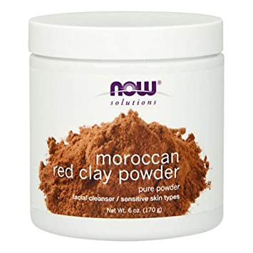 Now Foods Red Clay Powder Moroccan – 6 oz. 4 Pack