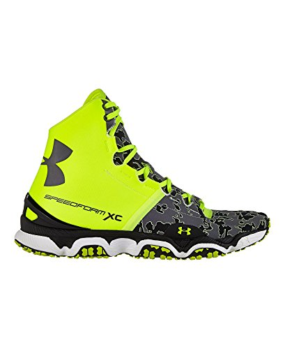 Under Armour Mens UA SpeedForm XC Mid Trail Running Shoes 12 High-Vis Yellow