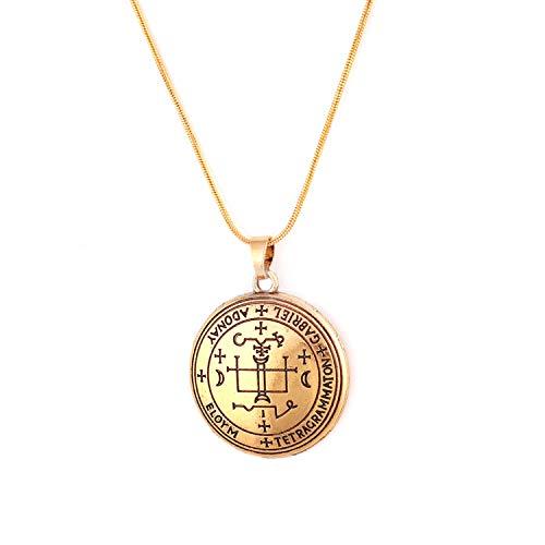 MYOSPARK-Sigil-Of-Arcangel-Gabriel-Talisman-Amuleto-Colgante-de-serpiente-Collar