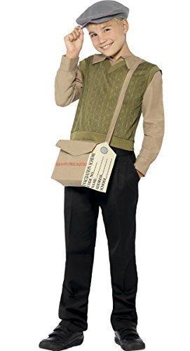 [Boys Evacuee Kit WW1 WW2 1940's Wartime War VE Day D-Day Fancy Dress Age 7-9] (Evacuee Costume Ww1)