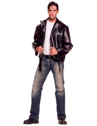 [Underwraps Costumes Men's Greaser, Black, One Size] (Danny Sandy Grease Costumes)
