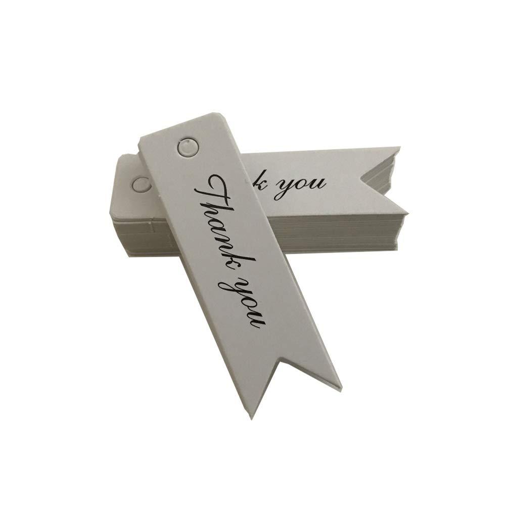 Carta da pacchi Shuda 100pcs Carta Kraft Etichette Regalo Decorazioni da Appendere Handmad Tag Bagagli Etichette String per Festa 7 * 2CM Kraft Paper
