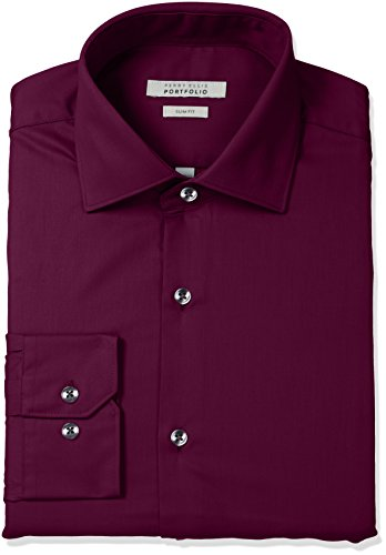 Perry Ellis Slim Fit Wrinkle Free Solid