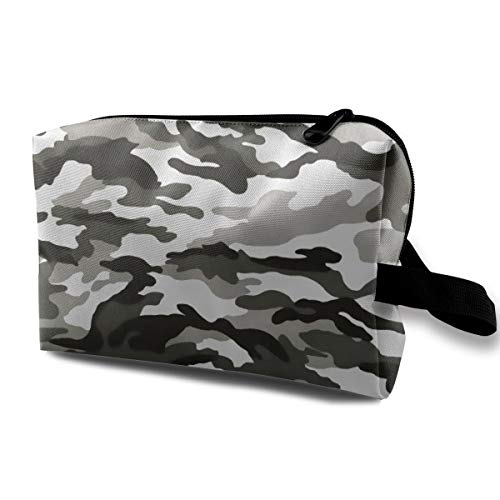 Army Camouflage Grey Portable Multifunction Travel Pouches Woman