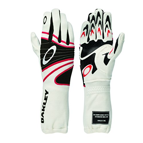 Oakley 94106 Mens Fr Driving Glove, White - M