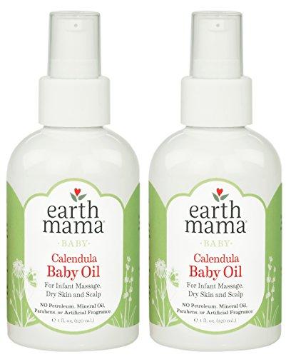 Earth Mama Calendula Baby Oil, 4-Fluid Ounce (2-Pack)