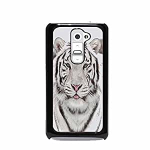 White Snow Tiger with Blue Eyes LG G2 Hard Plastic Case (Not for Verizon)