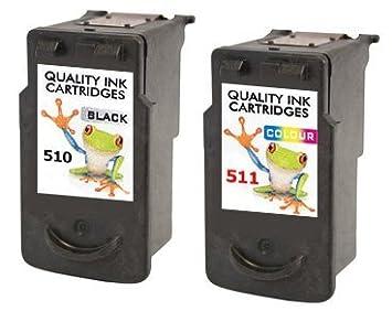 Rellenos 2x Impresora Canon Cartuchos De Tinta Cl 511 Y Pg 510 B + ...